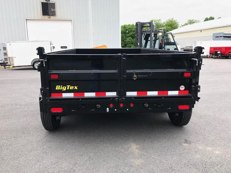 BIGTEX 2019 14LX-12 (7' x 12') BLACK HEAVY DUTY TANDEM EXTRA WIDE DUMP TRAILER