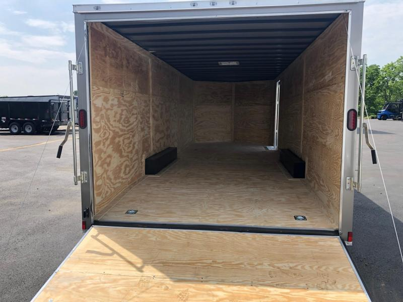 DIAMOND CARGO 2019 8.5' x 24' TANDEM AXLE PEWTER  ENCLOSED CARGO TRAILER/ CAR HAULER
