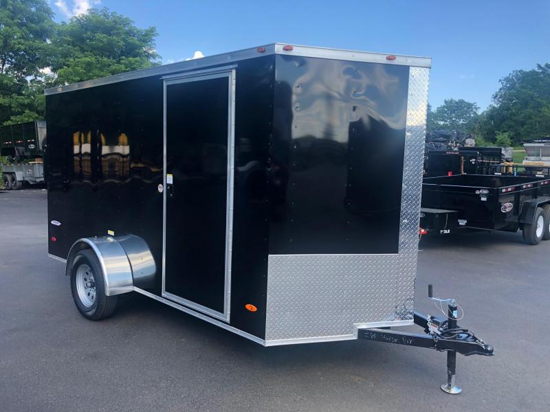 FREEDOM 2019 6X12 SINGLE AXLE BLACK CARGO/ENCLOSED TRAILER