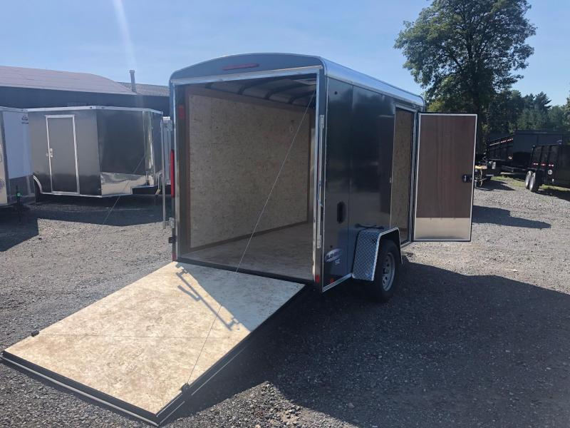 LOOK 2020 6 x 10' ELEMENT CHARCOAL CARGO ENCLOSED TRAILER