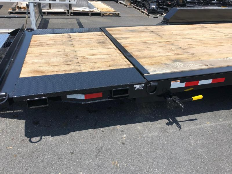 CAM 2019 Low Profile Extra Wide 8-Ton Split Tilt Utility Equipment Trailer (8CAM21STTXW)