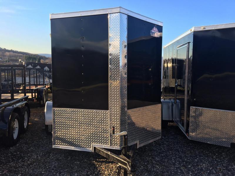 DIAMOND CARGO 2019 6' x 10' SINGLE AXLE BLACK ENCLOSED TRAILER