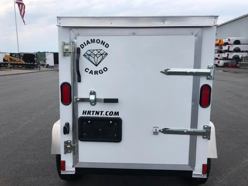 DIAMOND CARGO 2019 4' x 6' SINGLE AXLE WHITE ENCLOSED CARGO TRAILER