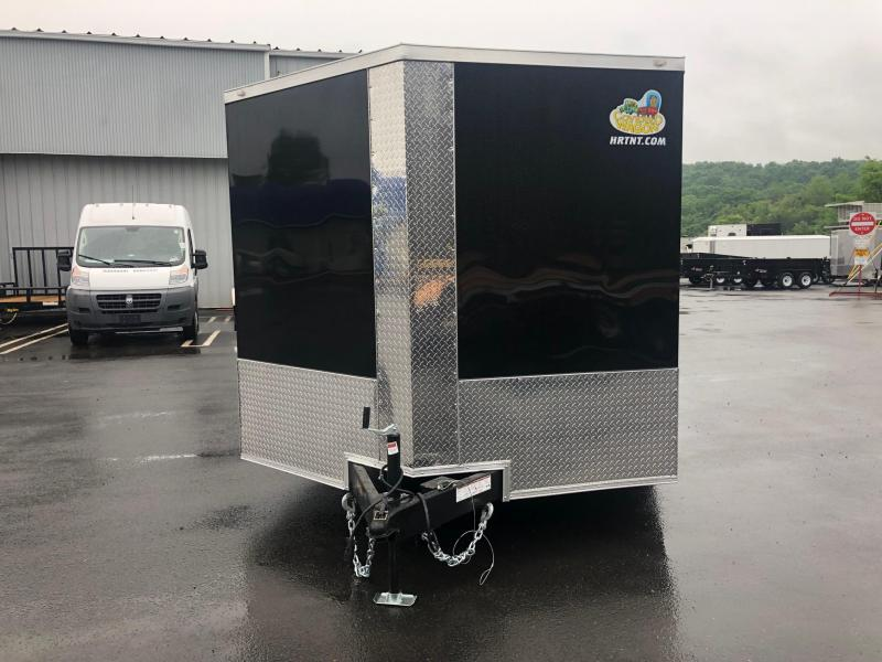 COVERED WAGON 2019 8.5 X 20 TANDEM AXLE BLACK SEMI-SCREWLESS WITH ESCAPE DOOR ENCLOSED CARGO TRAILER