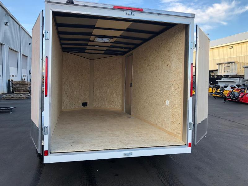2019 Look 7x14' Element  Tandem Axle White Enclosed Cargo Trailer