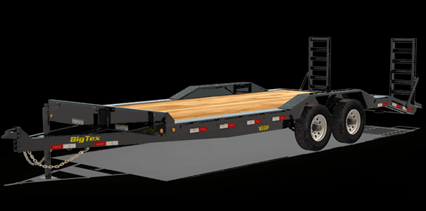 """BIGTEX 2020 7' X 22' 10DF-22 102"""" x 22' Pro Series Tandem Axle Equipment/Car Hauler"""