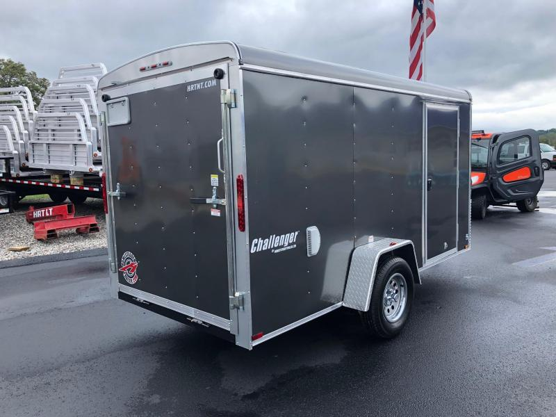"""HOMESTEADER 2019 6' x 12' GRAY CHALLENGER ENCLOSED TRAILER W/6"""" EXTRA HEIGHT"""