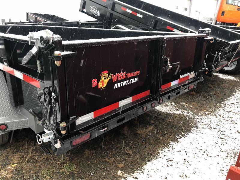 BWISE 2019 DLP16-15  7 ft. x 16 ft. BLACK DUMP TRAILER