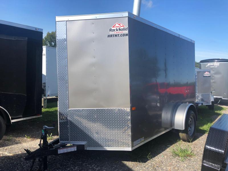 ROCK SOLID 2020 6' x 10' SINGLE AXLE PEWTER ENCLOSED TRAILER