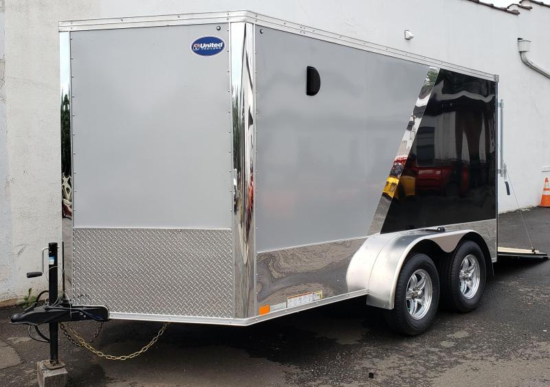2020 United Trailers 7 X 12 Tandem Axle Motorcycle Trailer