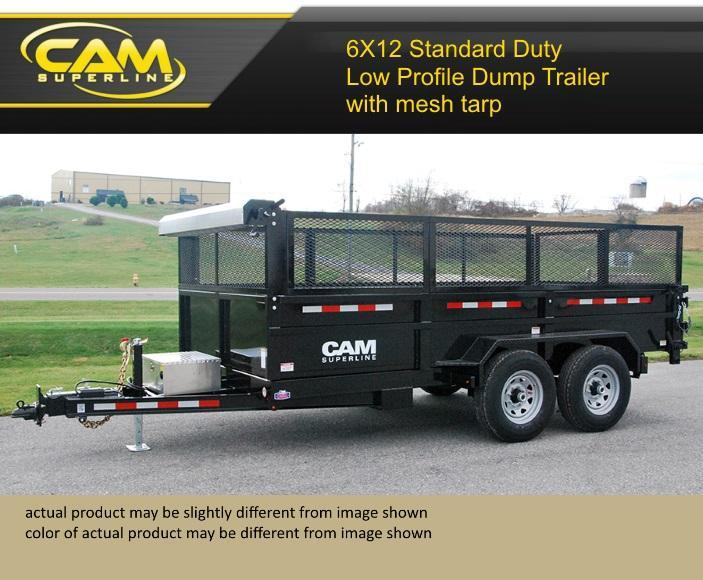 Cam Superline 6 X 12 Standard Duty Low Profile Dump Trailer in Ashburn, VA