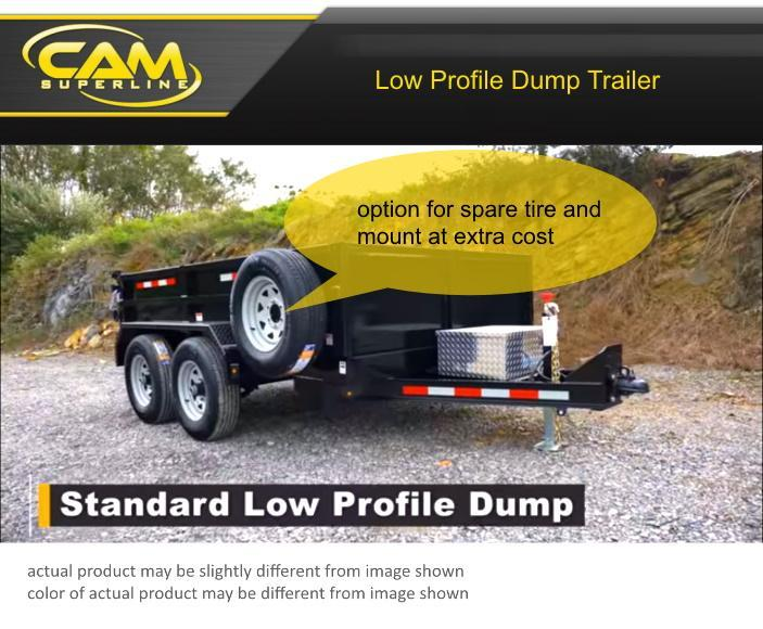 2019 Cam Superline 6 X 12 Standard Duty Low Profile Dump Trailer