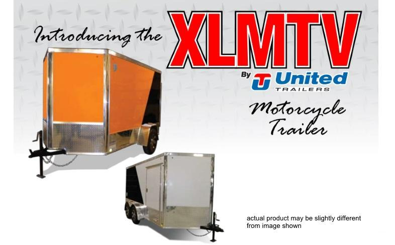 United XLMTV 7 X 12 7K Tandem Axle Enclosed Motorcycle Trailer