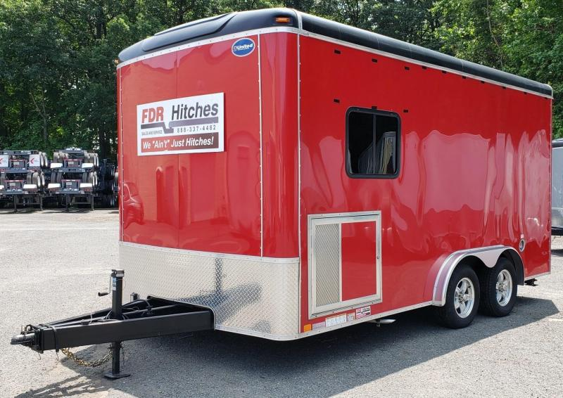 2019 United Trailers 8 X 16 FDR Hitches Custom Trailer