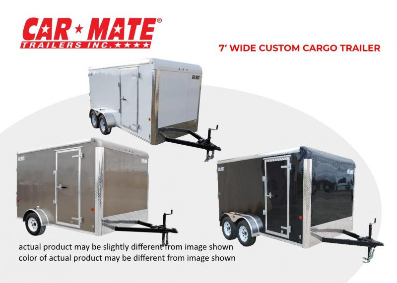2019 Car Mate Trailers 7 X 12 Custom Cargo Contractor Trailer