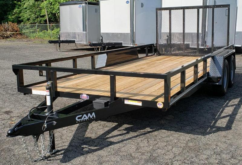 2019 Cam Superline 7 X 16 Tube Top CAM Utility 7K Tandem Trailer