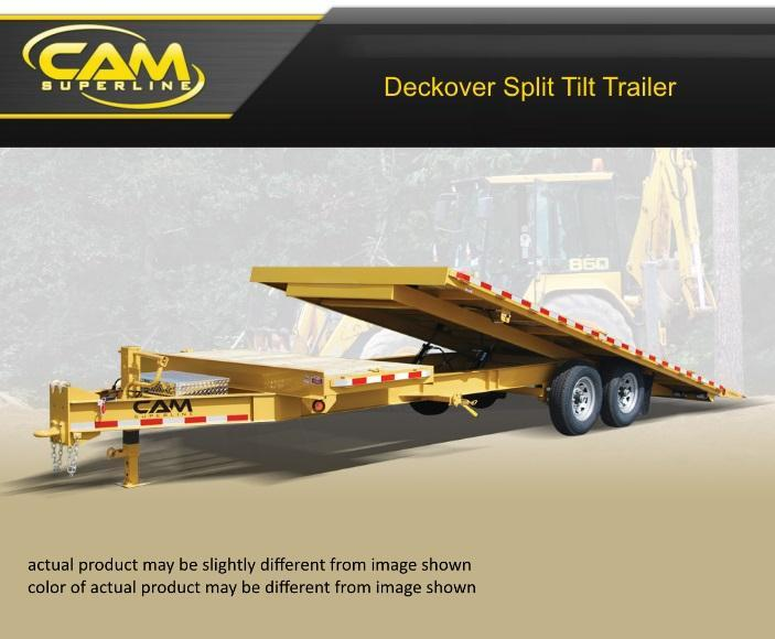 2019 Cam Superline 8 X 24 Deckover Split Tilt Trailer