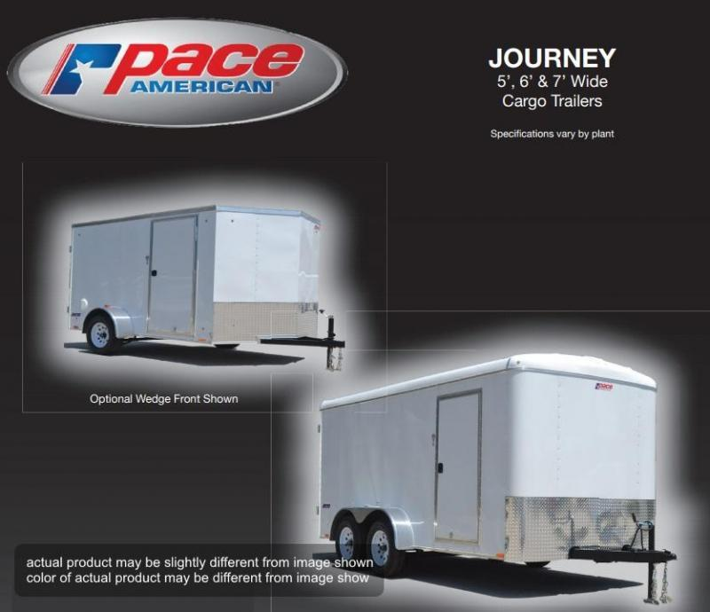 2018 Pace American 5 X 8 Journey SE 5 Wide Single Cargo