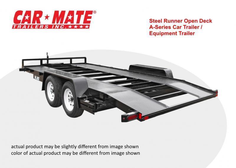 Car Mate 8 X 18 Steel Runner Open Deck A-Series Car Trailer