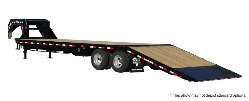 2018 PJ Trailers 32' Flatdeck with Hydraulic Dove Trailer