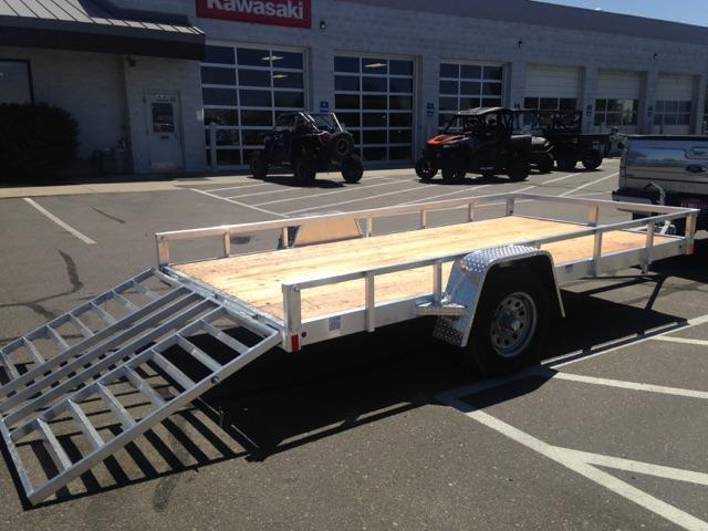 2017 SNAKE RIVER ALUMINUM FLATBED 66 X 10.3 SINGLE AXLE Utility Trailer