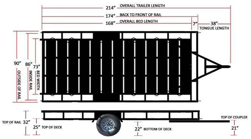 NEW Echo Trailers Extra Wide 14 ft ATV Trailer
