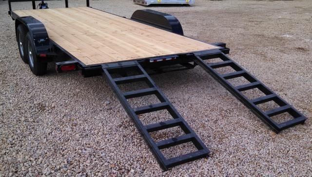 NEW SNAKE RIVER 18 Foot-7K ST Flatbed/Car Hauler Trailer ...