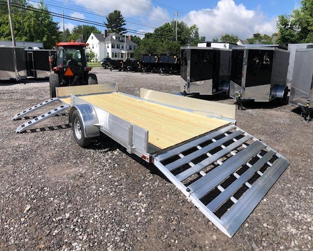 SALE 2019 Mission Aluminum 7x14 trailer side load/bi-fold ramp