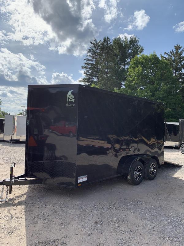 """New Spartan 7X14 +2ft V trailer Blackout /12"""" extra height"""