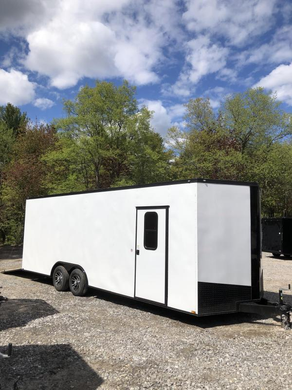 2019 Spartan 8.5x24 +2ft V trailer 9990gvwr Extra height/window *DEMO in NH