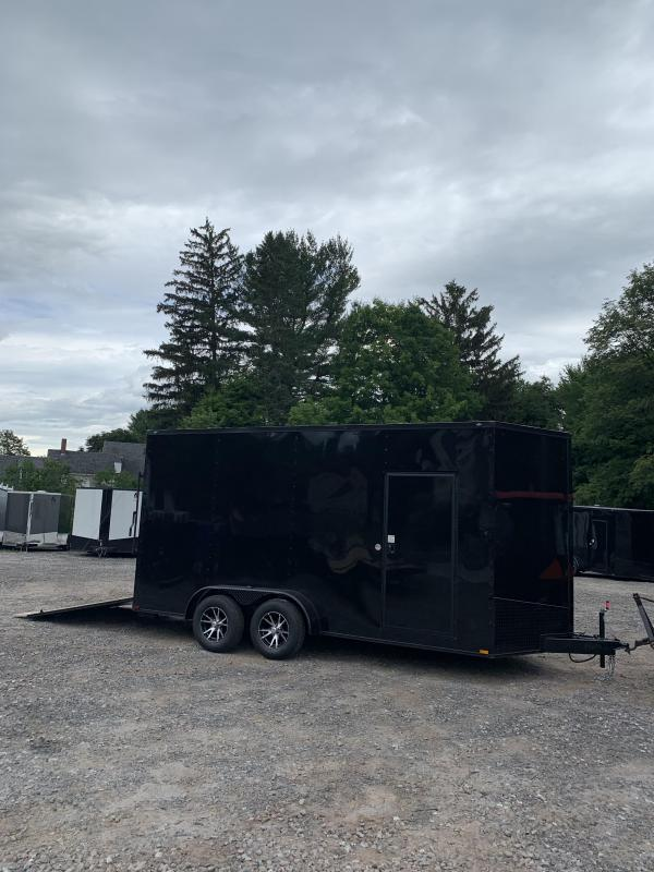 """2019 Spartan 7X16 +2ft V trailer Blackout /18"""" extra height in NH"""