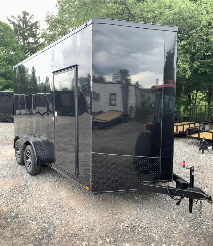 """2019 Spartan 7X14 +2ft V trailer Blackout /18"""" extra height in NH"""