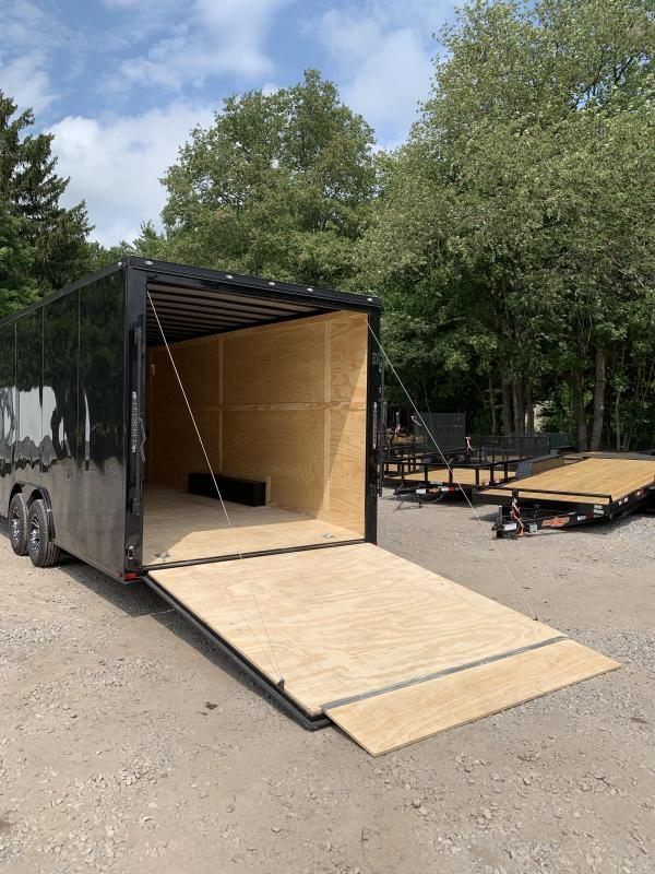 """New Spartan 8.5x24 +2ft v-nose Trailer-18"""" extra height/blackout"""