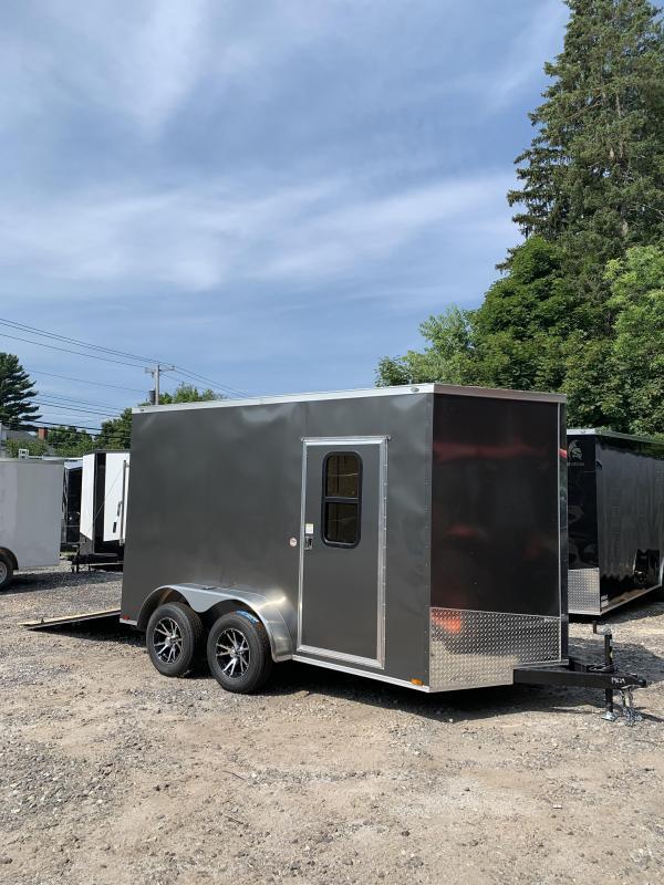 "2019 Spartan 7X12 +2ft V trailer 12"" extra height/ramp door in NH"