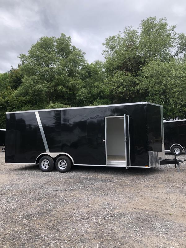 2019 Spartan 8.5x22 +2ft v-nose Trailer-extra height-9990gvwr-finished interior in NH