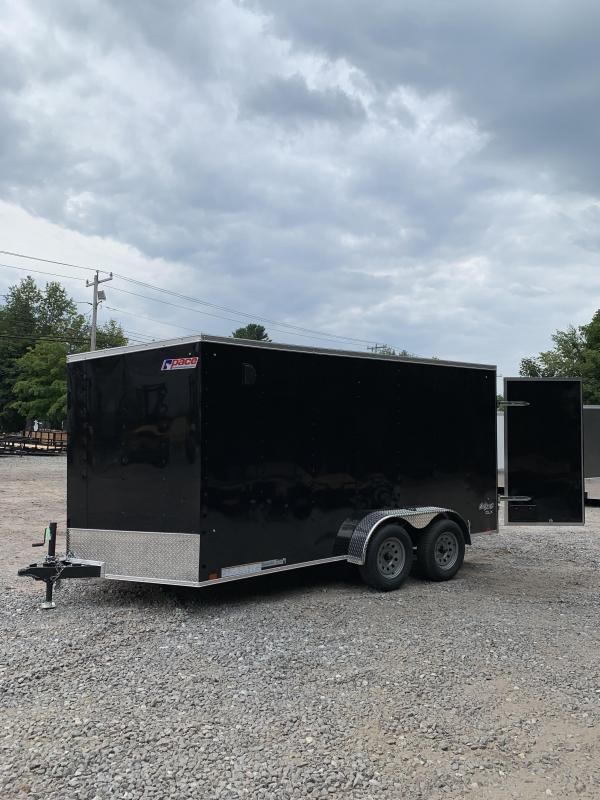 2019 PACE 7X14 +2ft V trailer double doors/extra height