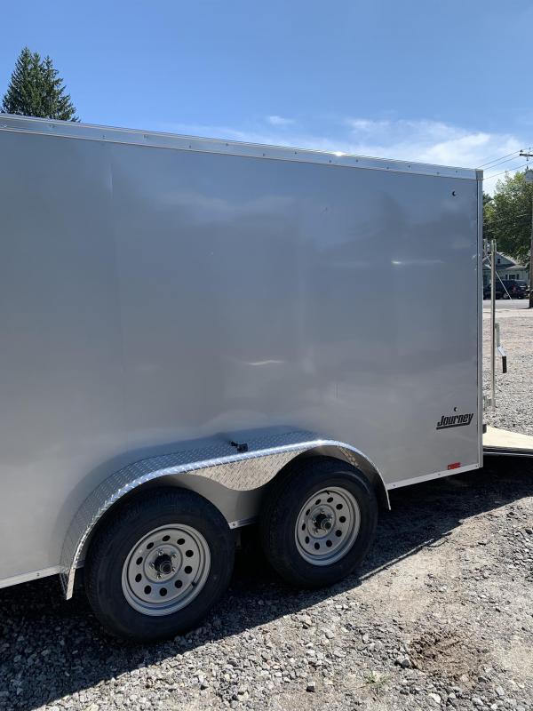2020 PACE 7X16 +2ft V trailer ramp door/7000 gvwr