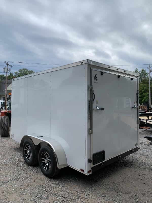 2019 Spartan 7X16 +2ft V trailer ramp door/alum. wheels/extra height
