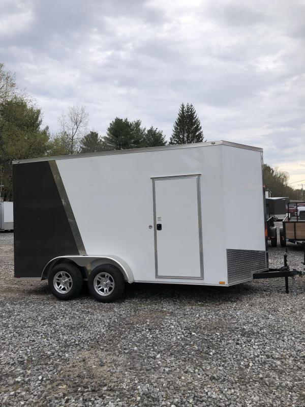 """2019 Spartan 7X14+2ft V trailer with alum. wheels/18"""" extra height"""