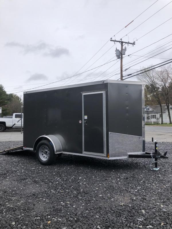 2019 Spartan 5x10 2ft v-nose Enclosed Trailer w/ramp door