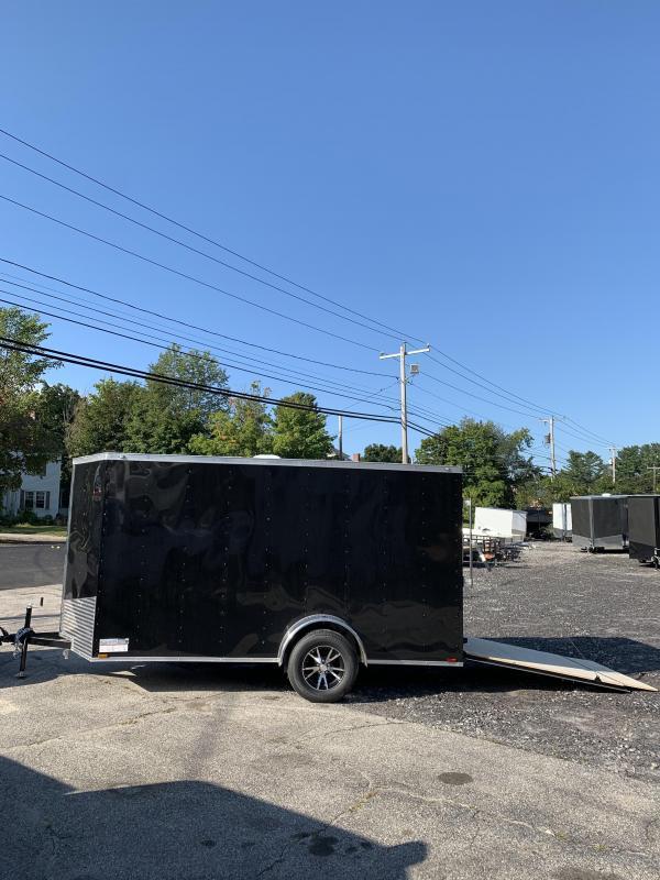 New Spartan 6x12 +2ft V nose trailer ramp door/alum. wheels