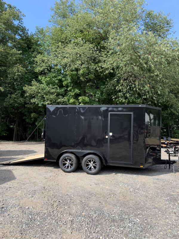 """New Spartan 7X12 +2ft V trailer Blackout /6"""" extra height"""