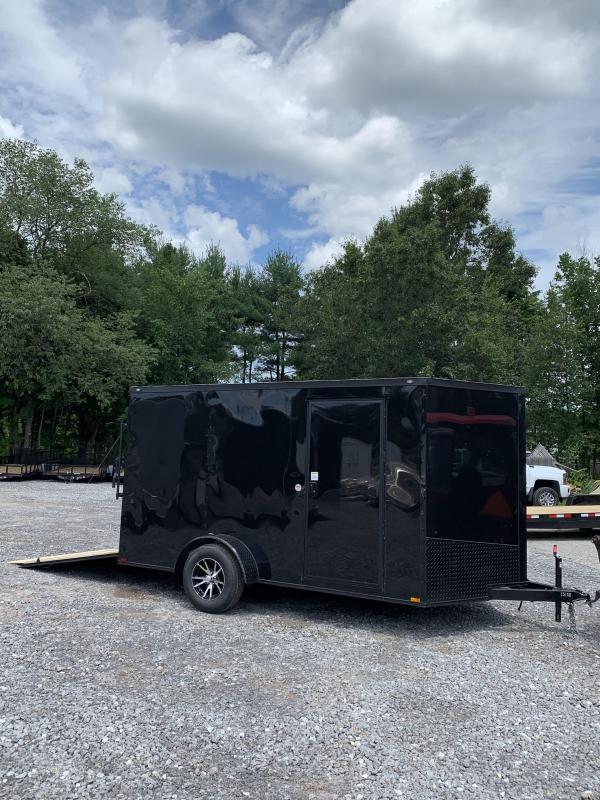 2019 Spartan 7x12 +2ft V nose trailer Ramp door/Blackout package