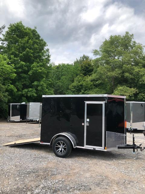 2019 Spartan 5x8 2ft v-nose Trailer extra height/alum. wheels *Dent Sale in NH