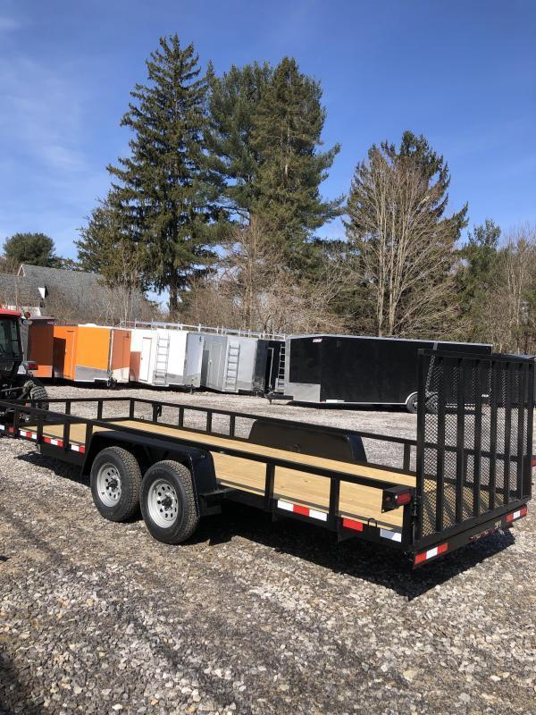 SALE 2019 D2E 7x18 landscape trailer-tube steel-dexter axles