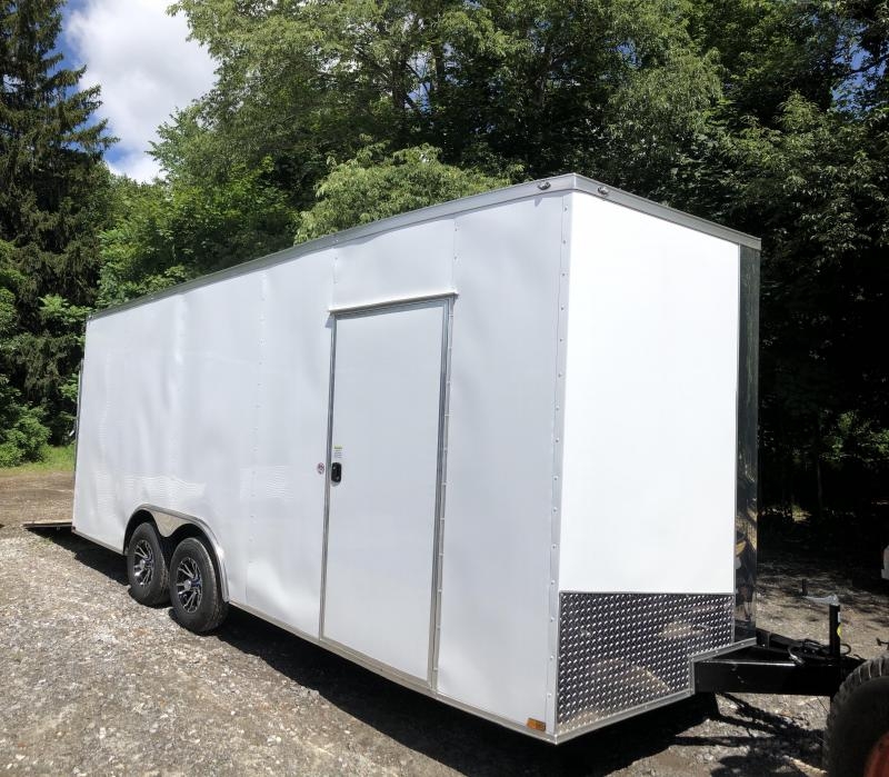 """2019 Spartan 8.5x20 +2ft v-nose Trailer-18"""" extra height-9990gvwr in NH"""
