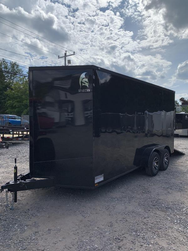 """2019 Spartan 7X16 +2ft V trailer Blackout /12"""" extra height"""