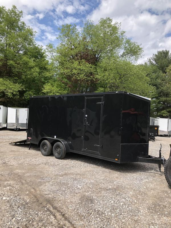 """2019 Cargo mate 7X18 +2ft V trailer Blackout/18"""" extra height in NH"""