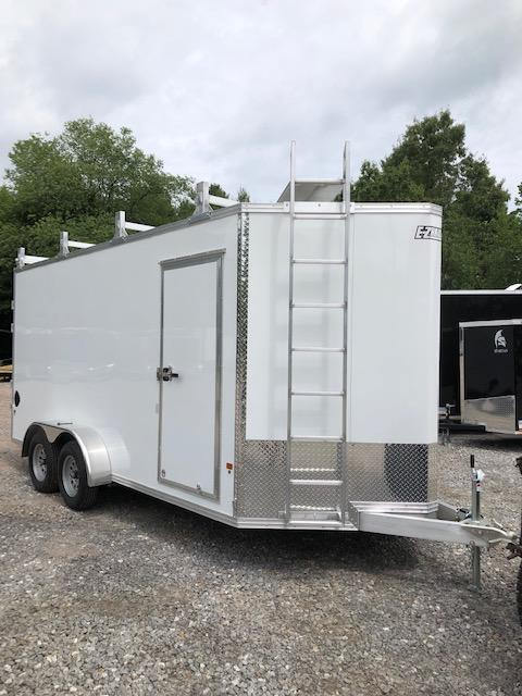 "2019 Fully aluminum 7x16 contractor trailer 12"" extra height/ladder racks in Ashburn, VA"