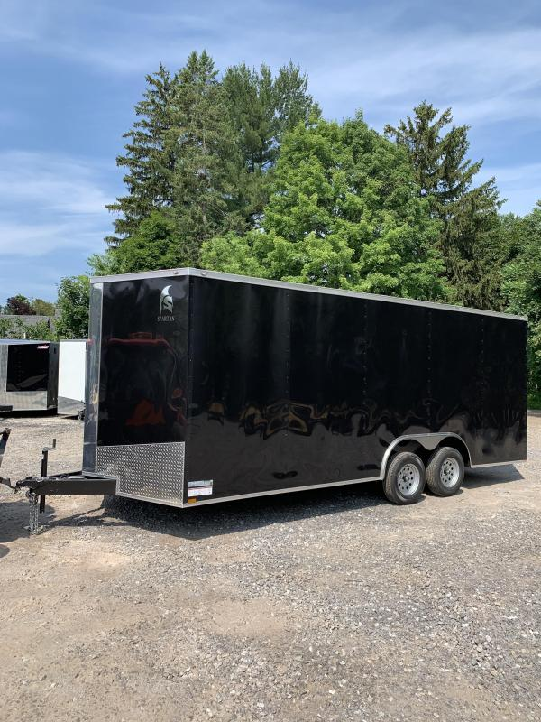 """2019 Spartan 8.5x20 +2ft v-nose Trailer-12"""" extra height in NH"""
